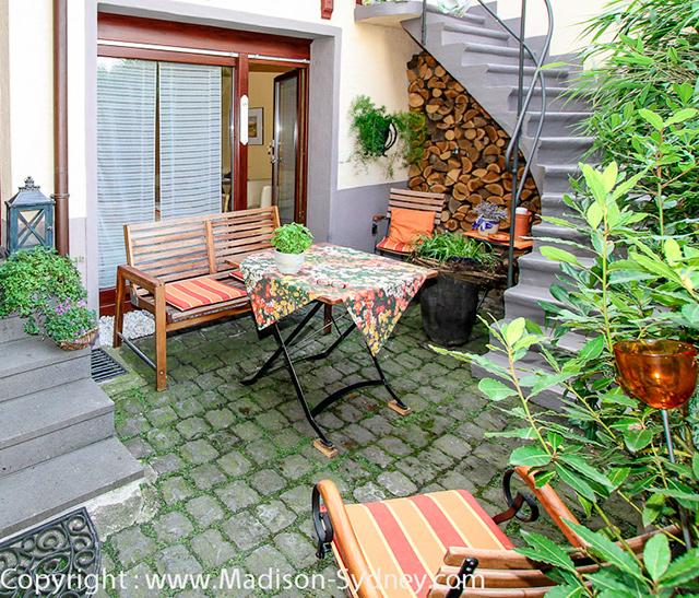 Pension Familie Hein - Gemütliche Terrasse